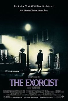 Directed by William Friedkin.  With Ellen Burstyn, Max von Sydow, Linda Blair, Lee J. Cobb. When a teenage girl is possessed by a mysterious entity, her mother seeks the help of two priests to save her daughter.