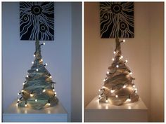 Newspaper weaving. Christmas tree (~80 cm) Loved the idea and tried. Love it in real also! ♥ ♥ ♥