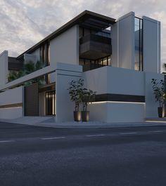 33 Lovely Modern Villa Exterior Design Ideas Luxury Look - SearcHomee Minimalist Architecture, Modern Architecture House, Facade Architecture, Facade Design, Exterior Design, Modern Villa Design, Contemporary Design, House Front Design, Dream House Exterior
