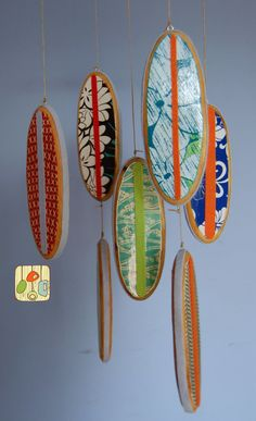 Baby Mobile Surfboards, cute for surfer theme