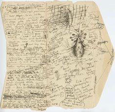 """¡Notas escritas por HPL durante la redacción de """"Las Montañas de la Locura""""! Se conservan en la Brown Library de Providence, creo."""