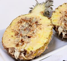 My Thai: Grilled Pineapple with Coconut-Condensed Milk-Butter Sauce