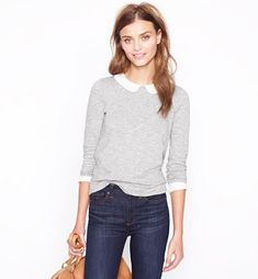 such a sweet sweater with collar...jcrew 2012 This is J Crew Style, Like this, visit the following website to find more items you want.