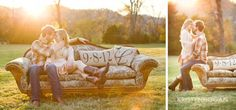 Lovely Save the Date pictures w/pillows of their wedding date - bright ideas