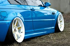 BMW E46 on some very nice wheels, almost look like my favourite type...
