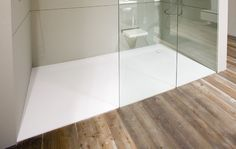 Corian shower base with seat is not only of high quality but also of great convenience. Once installing a Corian base, it tends to serve for a lifetime. Shower Basin, Shower Tub, Shower Trays, Shower Stalls, Contemporary Bathrooms, Modern Bathroom, Bathroom Ideas, Basement Bathroom, Master Bathroom
