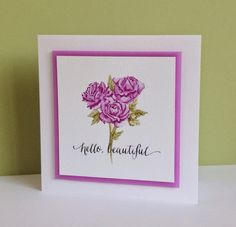 """Water colour Roses Card"" 