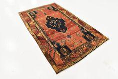 Red 4' 8 x 7' 10 Zanjan Persian Rug | Persian Rugs | iRugs UK