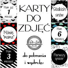 karty do zdjęć, do pobrania i wydruku Mommy And Me, Kids And Parenting, Baby Photos, Baby Blue, Baby Room, Cardmaking, Diy And Crafts, Pregnancy, Childhood