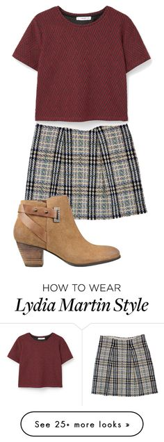 """Lydia Martin inspired"" by misscreepyashell on Polyvore featuring Burberry, MANGO and GUESS"