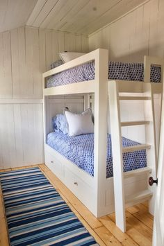 Beach house bunk room ideas dorm room ideas bunk beds kids beach style with exposed wall . Bunk Beds Boys, White Bunk Beds, Bunk Beds Built In, Modern Bunk Beds, Bunk Beds With Stairs, Bunk Rooms, Kid Beds, Bedrooms, Bunk Beds For Adults
