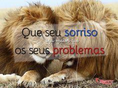 Que seu sorriso seja maior que os seus problemas. #sorriso #vida #felicidade #problemas #mca