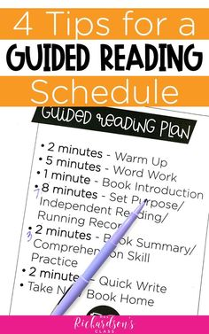 4 Practical Tips for the Best Guided Reading Schedule