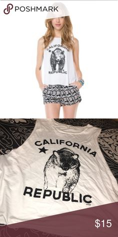 brandy melville california republic tank awesome condition Brandy Melville Tops Muscle Tees
