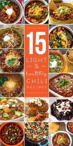 15 Light and Healthy Chili Recipes