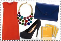 cocktail outfit idea #fashion #tangerine #blue