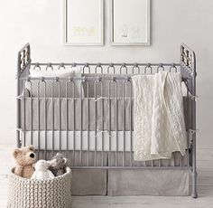 Garment-Dyed Ticking Stripe Nursery Bedding Collection, Restoration Hardware