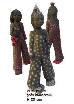 Les créations en raku de Catherine Cléricy Sculptures Céramiques, Sculpture Art, Statues, Creations, Clay, Coups, Fashion, Transitional Chandeliers, Body Sculpting