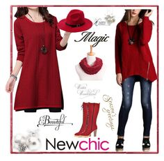 """Newchic"" by merisa-imsirovic ❤ liked on Polyvore"
