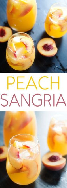 Peach sangria Mothers Day Brunch for Mom The post Peach sangria appeared first on Getränk. Refreshing Drinks, Summer Drinks, Cocktail Drinks, Fun Drinks, Healthy Drinks, Cocktail Recipes, Summer Sangria, Beverages, Peach Sangria Recipes