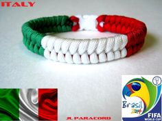 Your place to buy and sell all things handmade Paracord Bracelets, Bracelets For Men, Italy World Cup, Italian Flag Colors, Mexico Team, Italy Team, Money Making Crafts, Rifle Sling, Paracord Projects