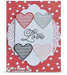 CARD: Hello Love Valentine's Day Card from Sealed with Love | Stampin Up Demonstrator - Tami White - Stamp With Tami Crafting and Card-Making Stampin Up blog