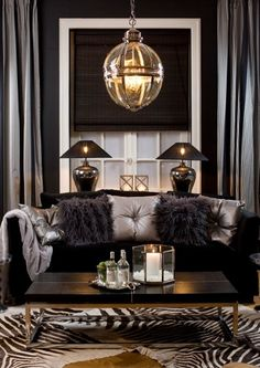 My new room colors Glam Living Room, Home And Living, Living Room Decor, Bedroom Decor, Black And Silver Living Room, Style Salon, Small Room Bedroom, Home And Deco, Living Room Inspiration