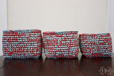 Multicolored Stacking Baskets - Colorful Christine
