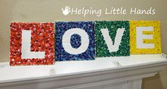 Melted Crayon Art Tutorial: LOVE Letter Tiles