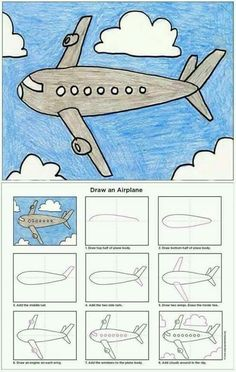 How to Draw an Airplane Art Projects for Kids Tesettür Mont Modelleri 2020 Drawing Projects, Drawing Lessons, Art Lessons, Art Projects, Art Drawings For Kids, Easy Drawings, Art For Kids, Drawing For Children, Basic Drawing For Kids