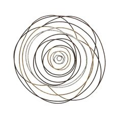Brighten any space with the DecMode Metal Cable Abstract Rose Wall Sculpture - 38 diam. This visually intriguing piece features a gold and silver-spun. Modern Wall Decor, Metal Wall Decor, Metal Wall Art, Wood Art, Rose Wall, Moe's Home Collection, Frames On Wall, Wall Décor, House And Home Magazine