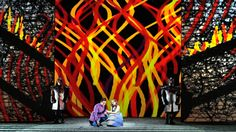 The Magic Flute from Opera Omaha. Directed by Garnett Bruce. Sets by Jun Kaneko. Lyric Opera, The Magic Flute, Museum Collection, Buy Tickets, Public Art, Screen Shot, Home Buying, Opera House, Scenery
