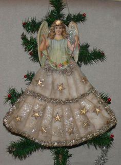 Flat cotton ornament angel