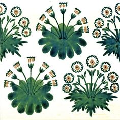 William Morris, Daisy Green Tile (1862) is one of Morris' first designs. Morris drew much inspiration from nature, and was the foundational backdrop of his designs.