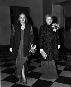 First Lady Bess Truman and daughter Margaret arrive at the Metropolitan Opera on opening night, October 26, 1945