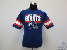 Vtg 80s 90s New York Giants Short Sleeve Jersey Shirt sz Youth XL NOS NWOT NFL #Garan #NewYorkGiants #tcpkickz