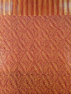 In progress shadow weave on 8 harness Schacht Mighty Wolf. Mayfair 15/2 weaving wool. 8'' wide. Cei A Lambert 2014.