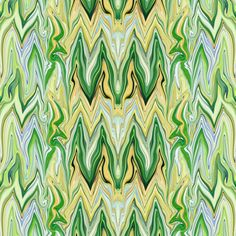 Tearful Ogre Marble Abstract, small scale,  Mellow Yellow Dominant, Greens, basic repeat fabric by maryyx on Spoonflower - custom fabric