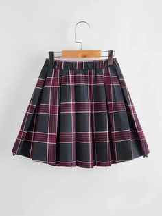 Girls Letter Tape Pleated Plaid Skirt – Kidenhouse Girl Skirts, Plaid Skirts, Tape, Lettering, Girls, Clothes, Fashion, Toddler Girls, Outfits