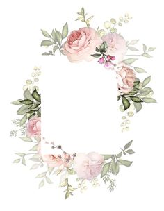 frames and borders Flower Backgrounds, Flower Wallpaper, Wallpaper Backgrounds, Iphone Wallpaper, Frame Floral, Flower Frame, Watercolor Flowers, Watercolor Art, Wedding Cards