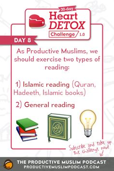 "As Muslims, we cannot underestimate the importance of reading, especially when the first word revealed to our Prophet Muhammad (peace be upon him) was ""Read!""  http://productivemuslim.com/how-to-develop-a-habit-of-reading/"