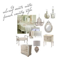 """Steal the Style: French Country Bedroom"" by kathykuohome on Polyvore"