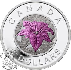 Coin Gallery London Store - Canada: 2014 $5 Flowers in Canada Poinsettia Silver Coin, $139.95