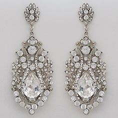Vintage Hollywood Glam Chandelier Earrings Spectacular Crystal Wedding Bridal Wow They Cute Pretty