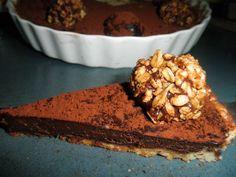 lihishmu | טארט טרוף קטיפתי עם תחתית שקדים קראנצי'ת -למכורי השוקולד.