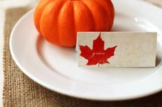 Thanksgiving Place Cards Placecards Holiday Table Decor Typography Set of 8 Gratitude Blessings Grace  - by Dawn Smith
