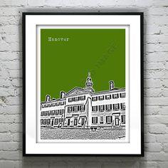Hanover New Hampshire Poster Print Art by AnInspiredImage on Etsy, $18.95