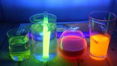 How to Make Water Glow. Glowing water can add a mysterious, neon-lit ambiance to a dark room without the cost or electricity of actual neon. Glow Bottle, Decorating With Sticks, Glow Water, How To Make Water, Cool Glow, Glow Paint, Glow Sticks, Fun Projects, Glass Bottles