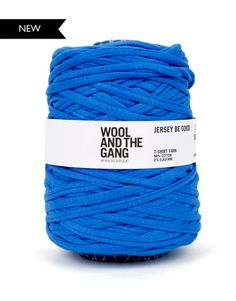 Presenting Jersey be Good by Wool and the Gang. Blue Lagoon colour inspo. #woolandthegang #summermoodboard