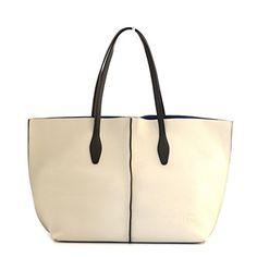 BORSA SHOPPING DONNA CROMIA IN VERA PELLE BIANCA BAG #borse